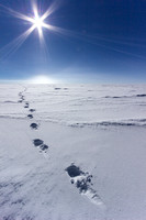 Footprints to nowhere, Ridge A, Antarctica, Most remote place on earth