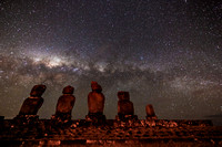 Milky Way above Moai