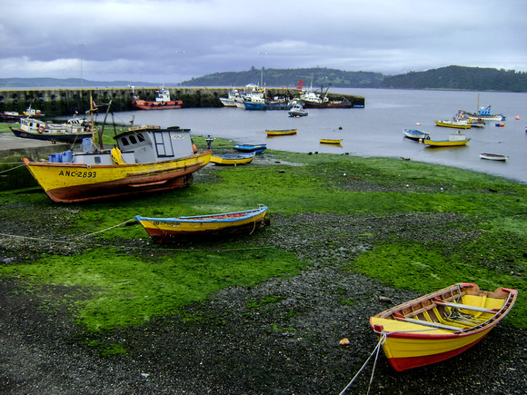 Fishing Boats on Chiloe Island, Chile